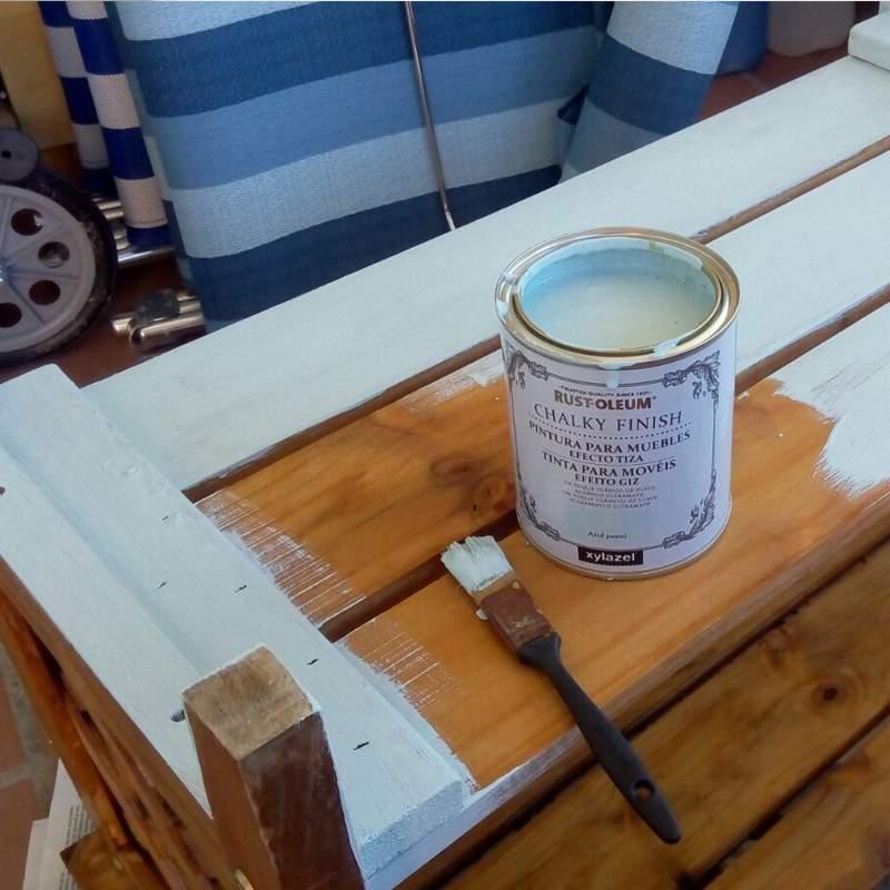 XYLAZEL Chalky Finish Tinta para Móveis Branco Giz