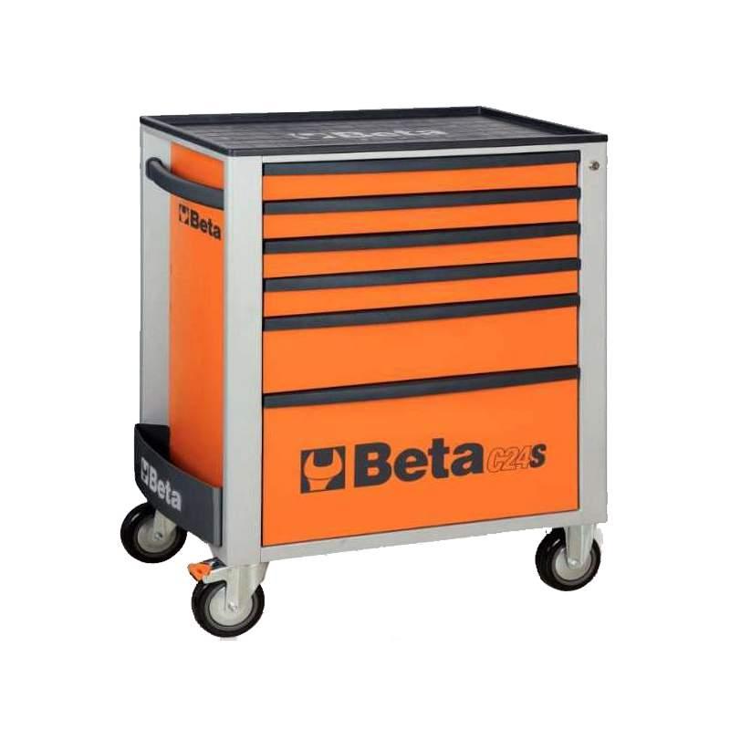 BETA-Carro 6 gavetas laranja C24S/6-0