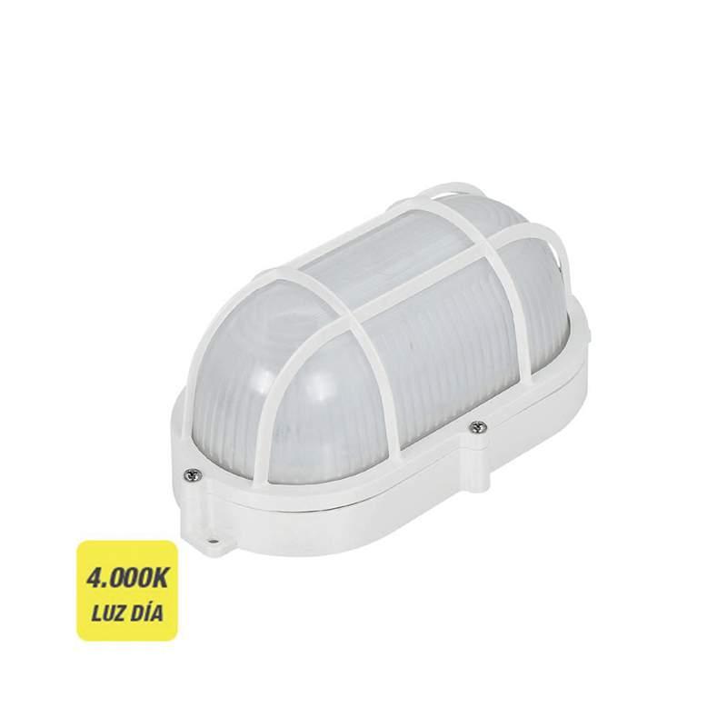 APLIQUE OVAL COM GRADE PARA EXTERIOR LED 9W 810 LUMENS