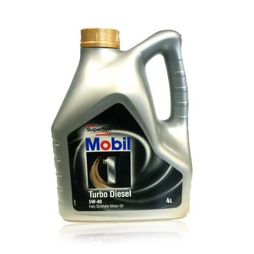 Lubrificante Mobil 1 Turbo Diesel 5W40 embalagem de 4L